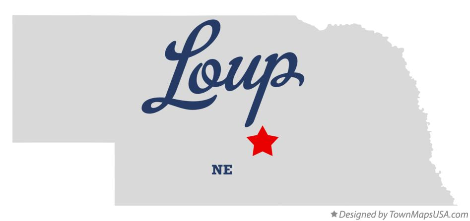 Map of Loup Nebraska NE