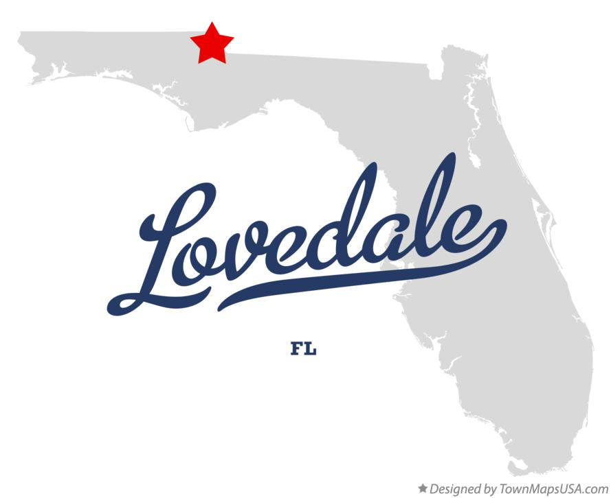 Map of Lovedale Florida FL