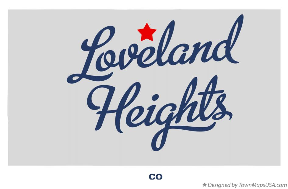 Map of Loveland Heights Colorado CO