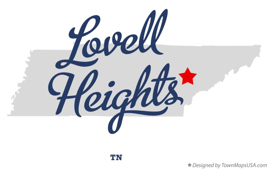 Map of Lovell Heights Tennessee TN