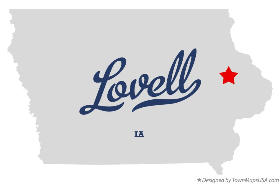 Map of Lovell Iowa IA
