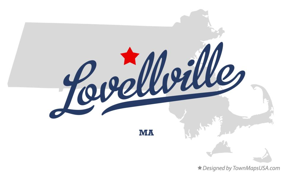 Map of Lovellville Massachusetts MA