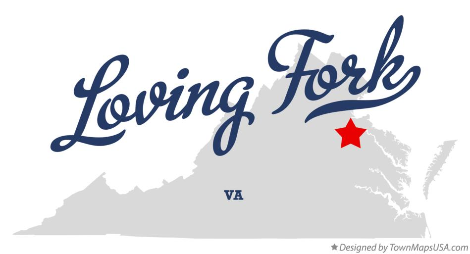 Map of Loving Fork Virginia VA