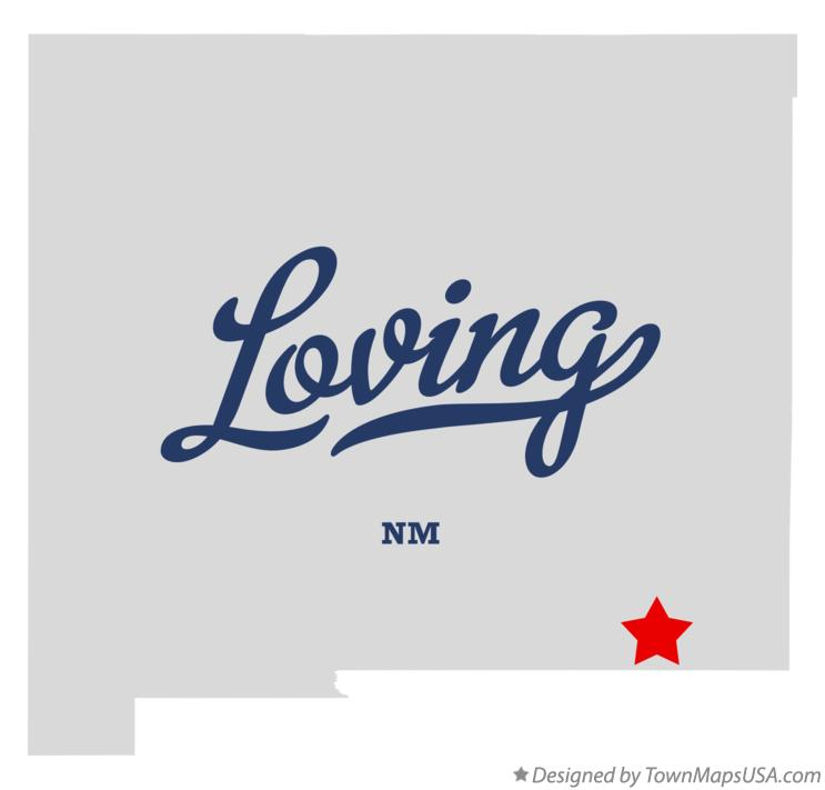 Map of Loving New Mexico NM