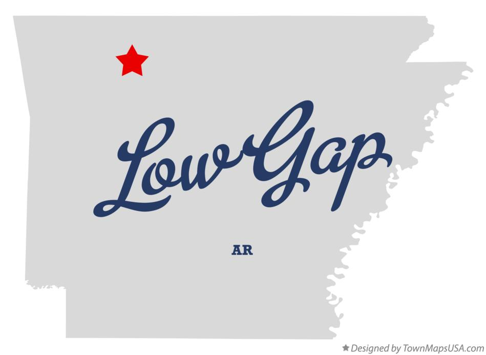 Map of Low Gap Arkansas AR