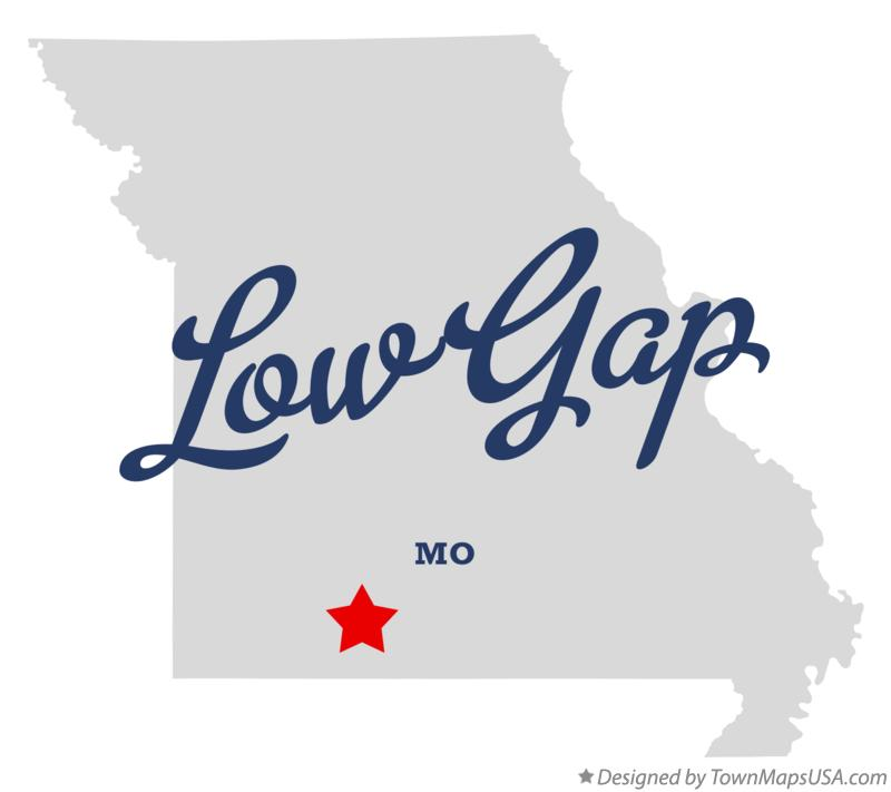 Map of Low Gap Missouri MO