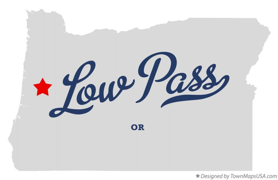 Map of Low Pass Oregon OR