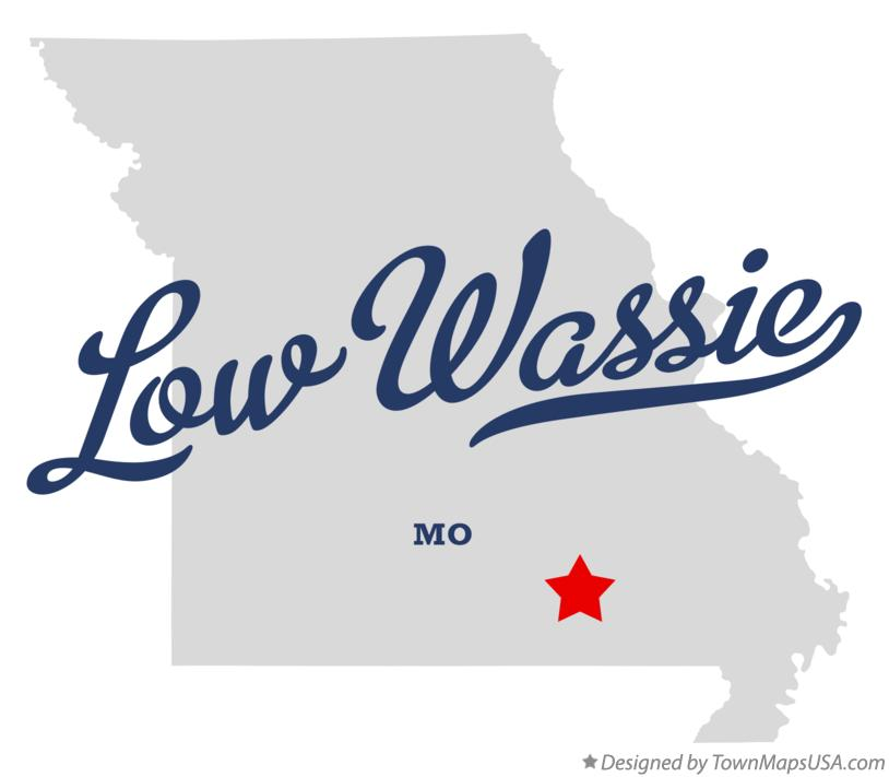 Map of Low Wassie Missouri MO