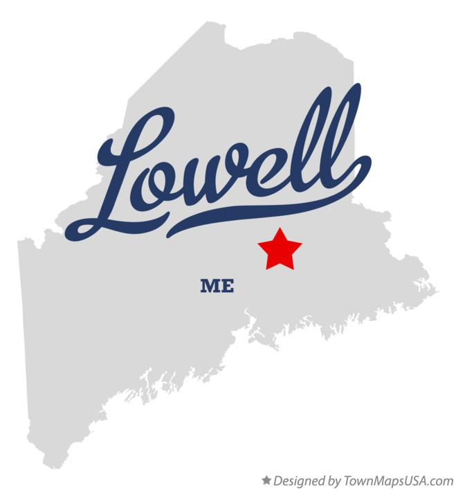 Map of Lowell Maine ME
