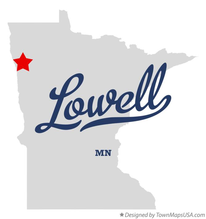 Map of Lowell Minnesota MN