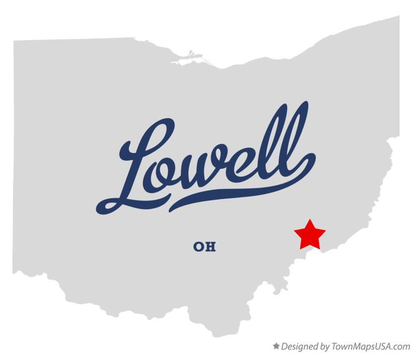 Map of Lowell Ohio OH