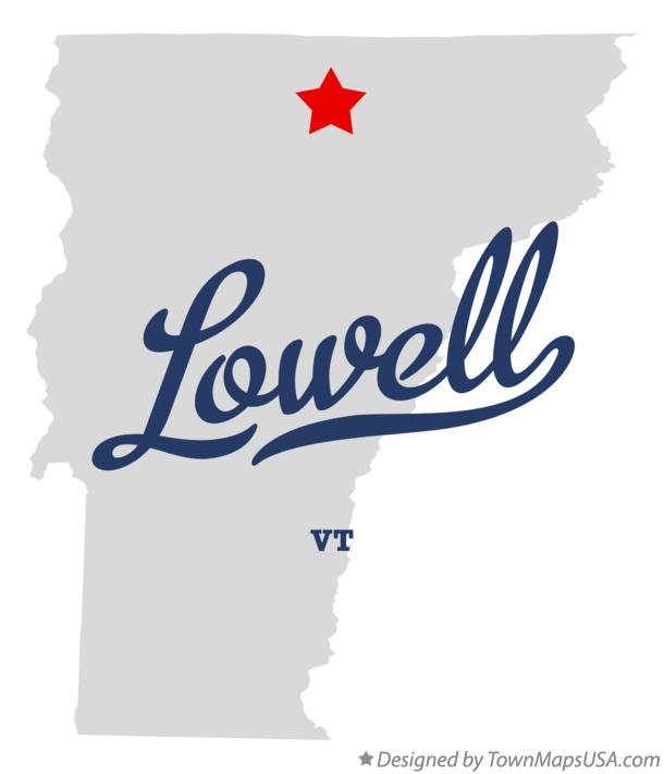 Map of Lowell Vermont VT