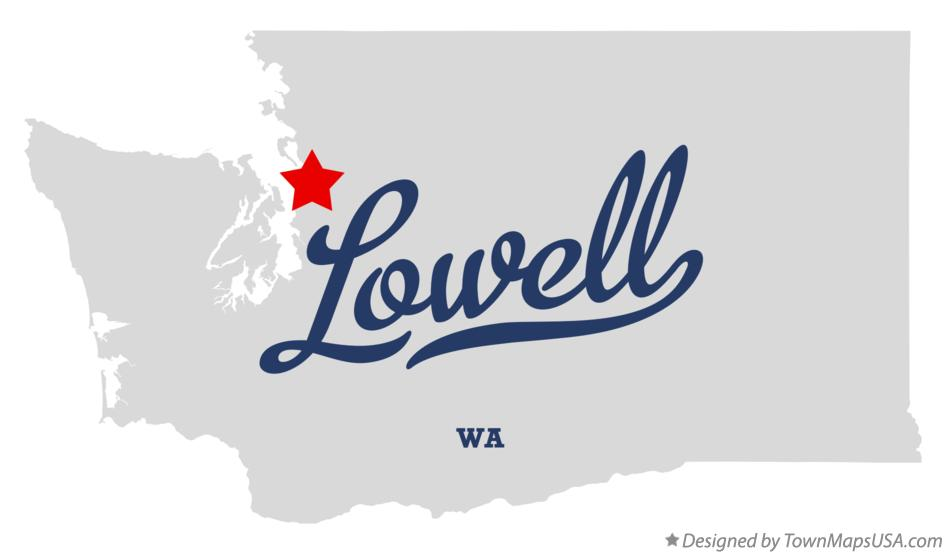 Map of Lowell Washington WA