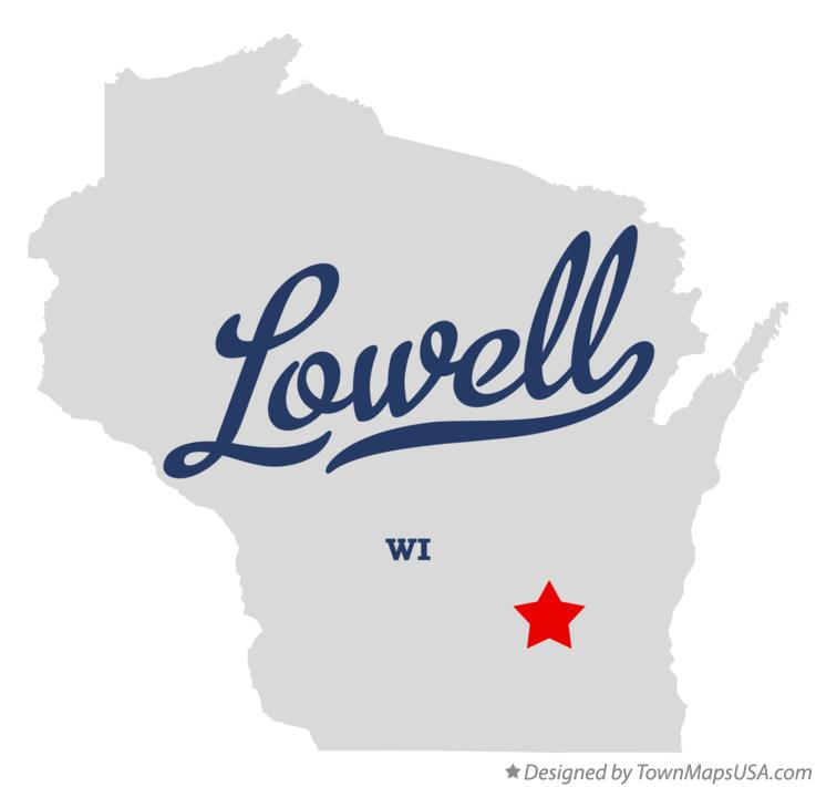 Map of Lowell Wisconsin WI