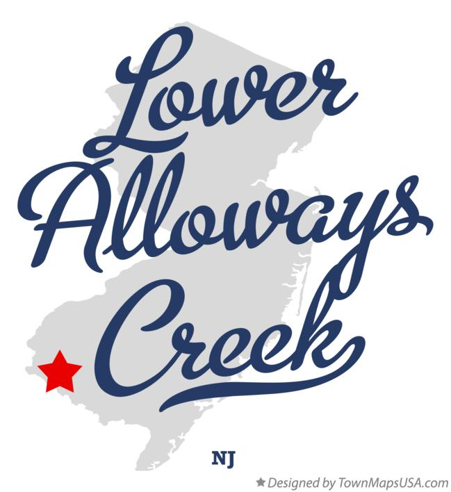Map of Lower Alloways Creek New Jersey NJ