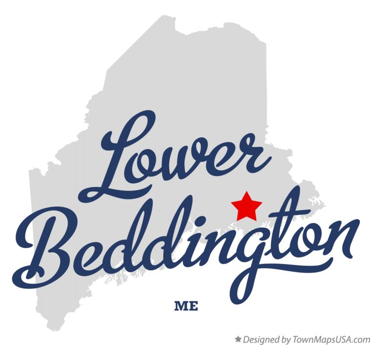 Map of Lower Beddington Maine ME