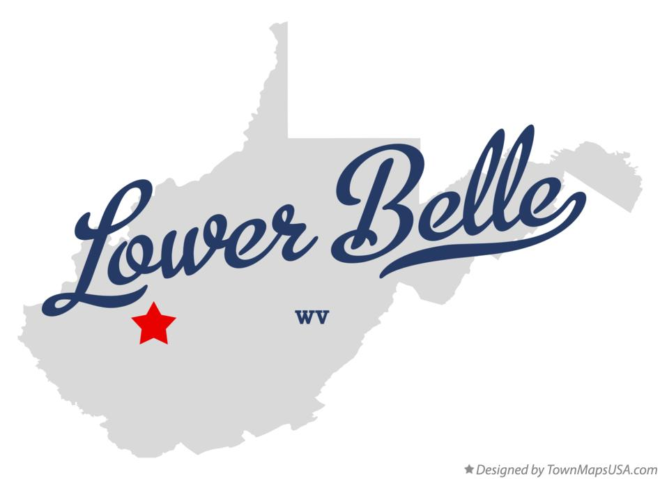 Map of Lower Belle West Virginia WV