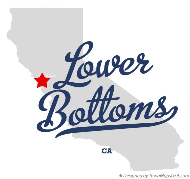 Map of Lower Bottoms California CA