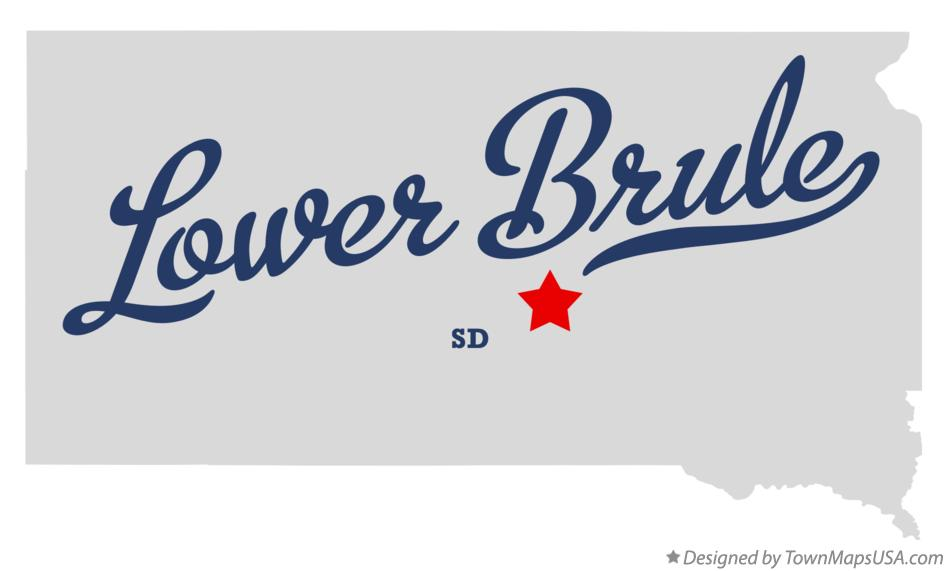 Map of Lower Brule South Dakota SD