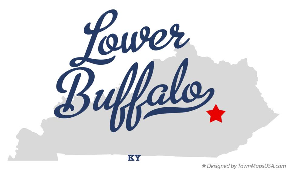 Map of Lower Buffalo Kentucky KY