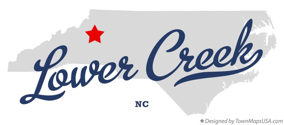 Map of Lower Creek North Carolina NC