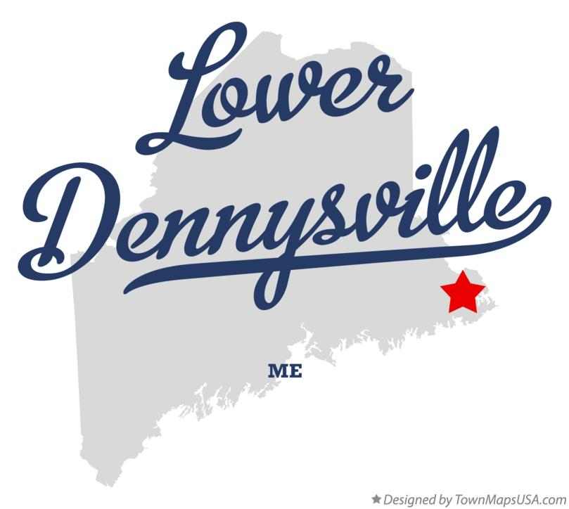 Map of Lower Dennysville Maine ME
