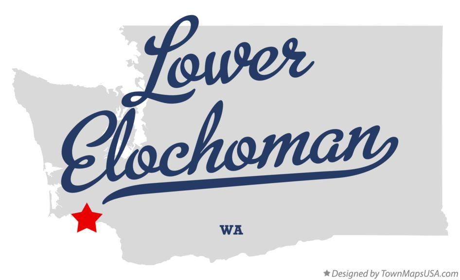 Map of Lower Elochoman Washington WA