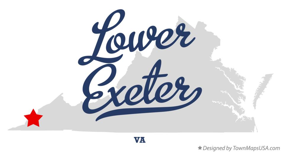 Map of Lower Exeter Virginia VA