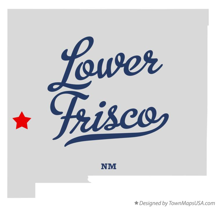 Map of Lower Frisco New Mexico NM