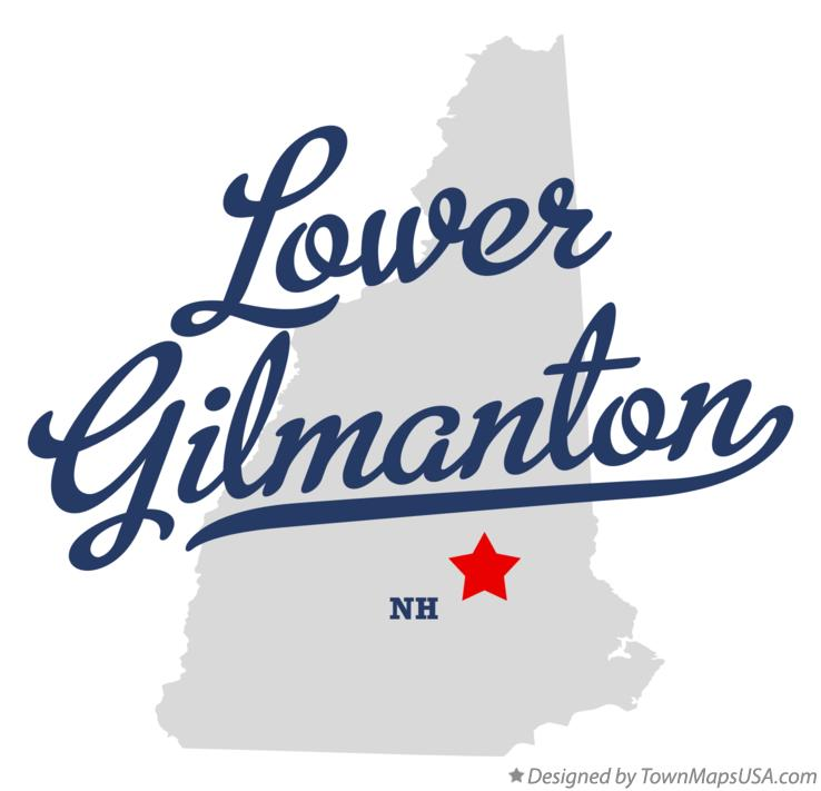 Map of Lower Gilmanton New Hampshire NH