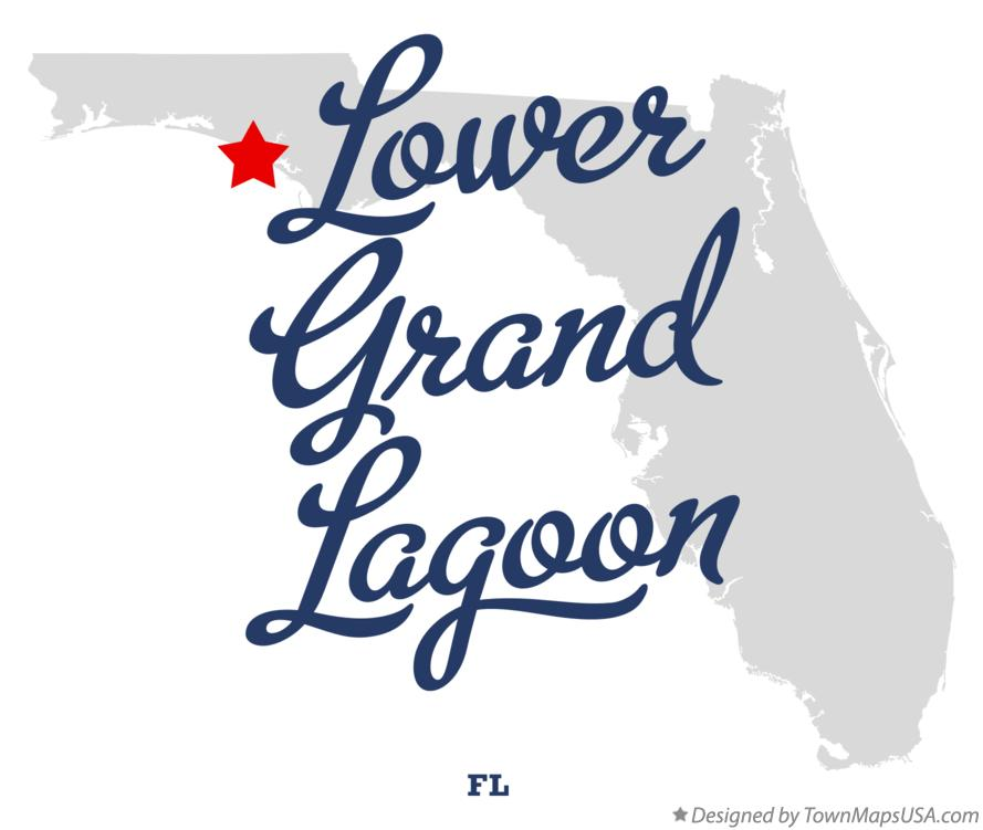 Map of Lower Grand Lagoon Florida FL