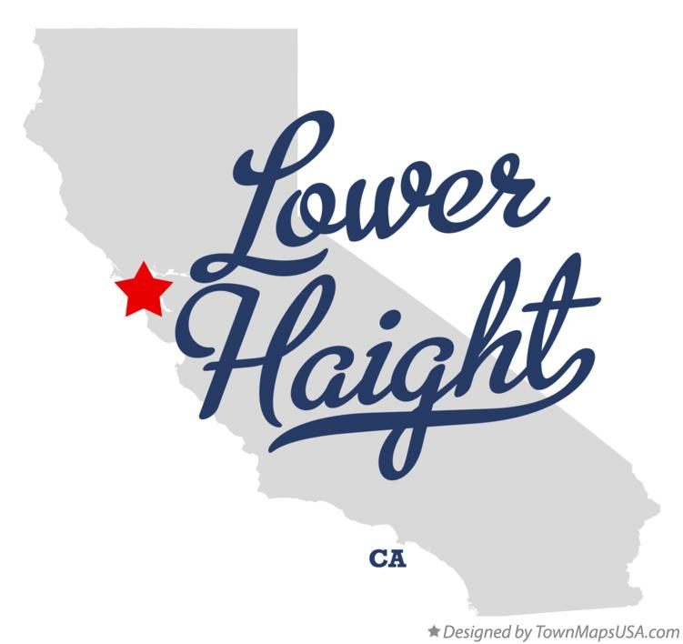 Map of Lower Haight California CA