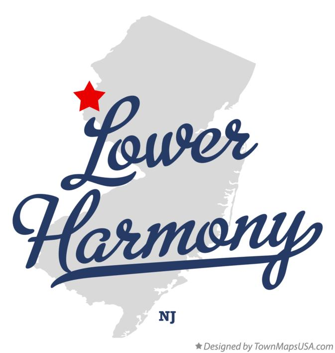 Map of Lower Harmony New Jersey NJ