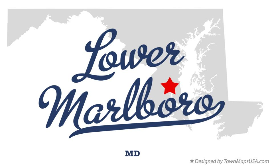 Map of Lower Marlboro Maryland MD
