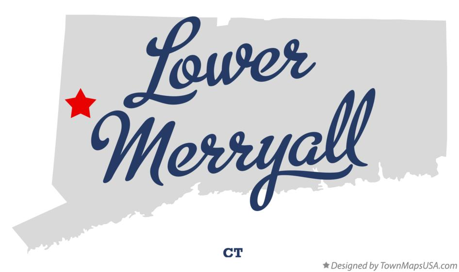 Map of Lower Merryall Connecticut CT