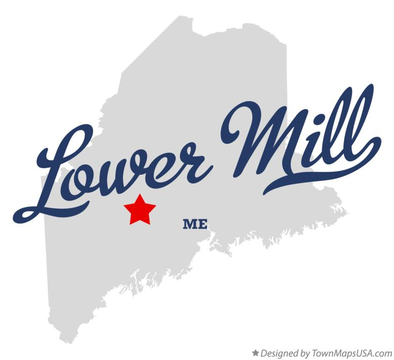 Map of Lower Mill Maine ME