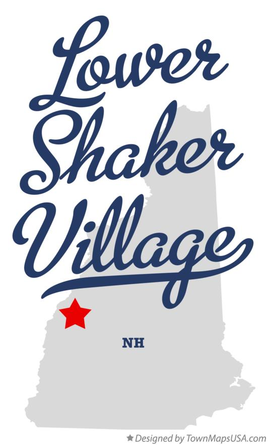 Map of Lower Shaker Village New Hampshire NH