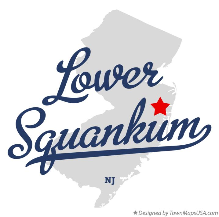 Map of Lower Squankum New Jersey NJ