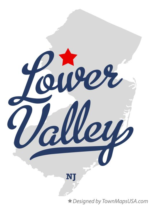 Map of Lower Valley New Jersey NJ