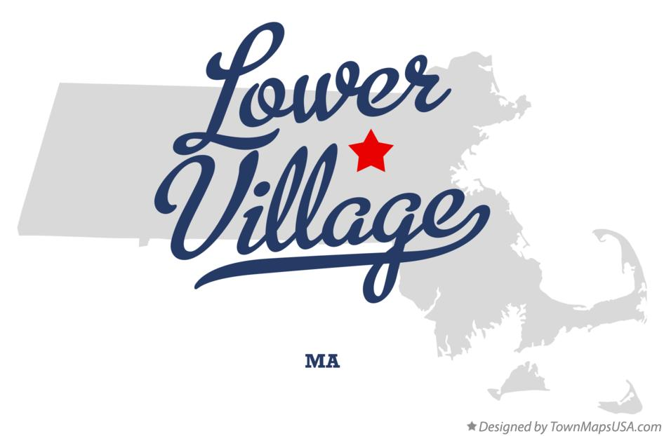 Map of Lower Village Massachusetts MA