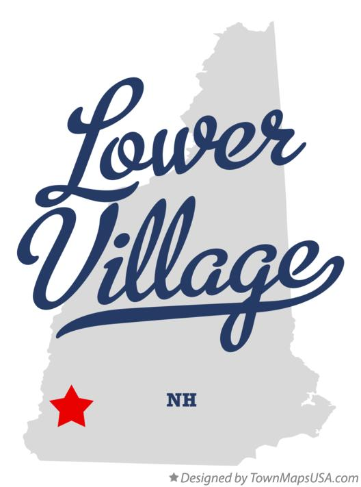 Map of Lower Village New Hampshire NH