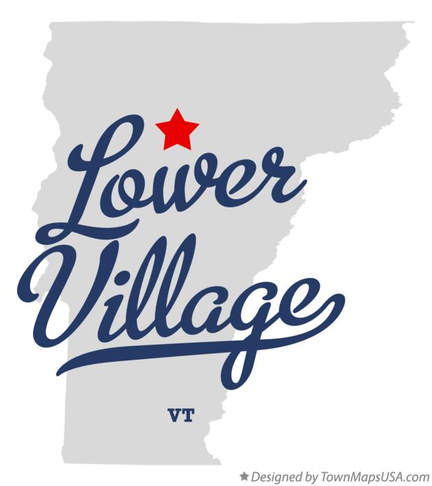 Map of Lower Village Vermont VT