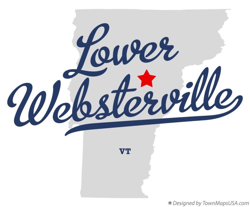 Map of Lower Websterville Vermont VT