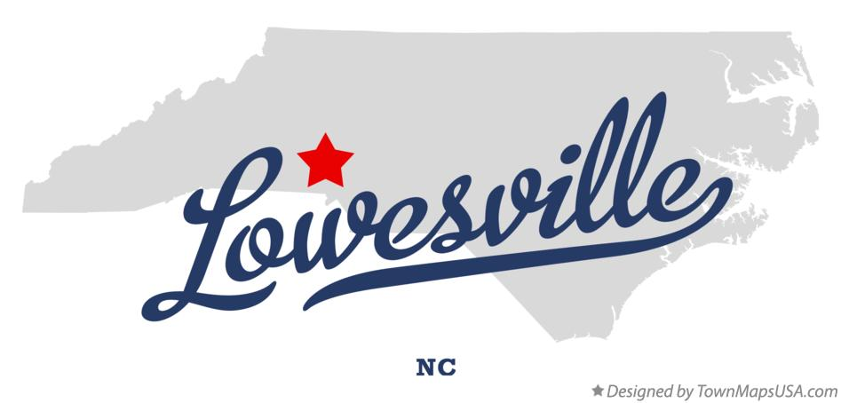 Map of Lowesville North Carolina NC