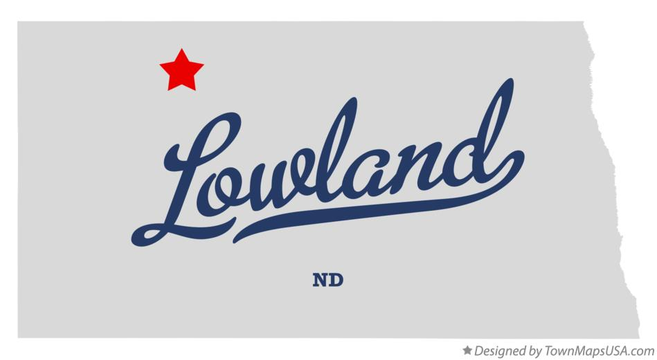 Map of Lowland North Dakota ND