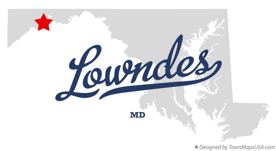 Map of Lowndes Maryland MD