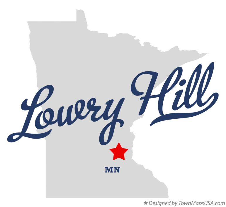 Map of Lowry Hill Minnesota MN
