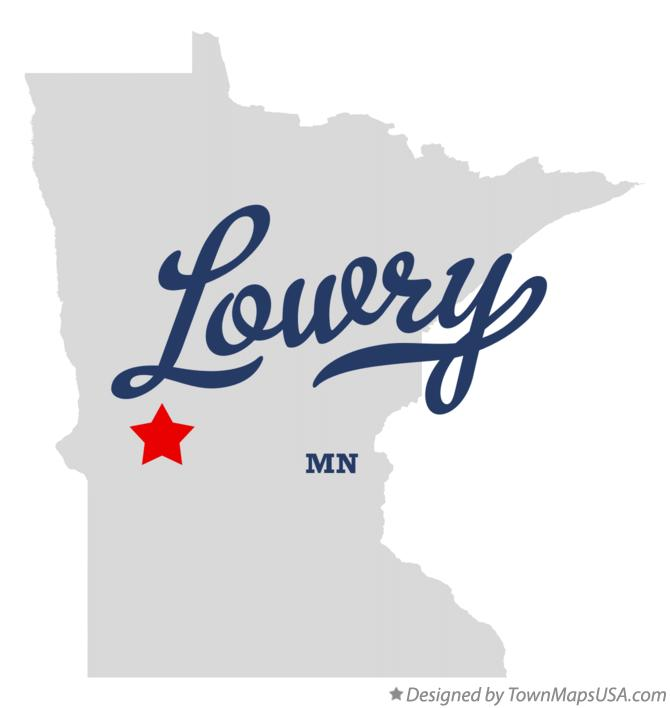 Map of Lowry Minnesota MN