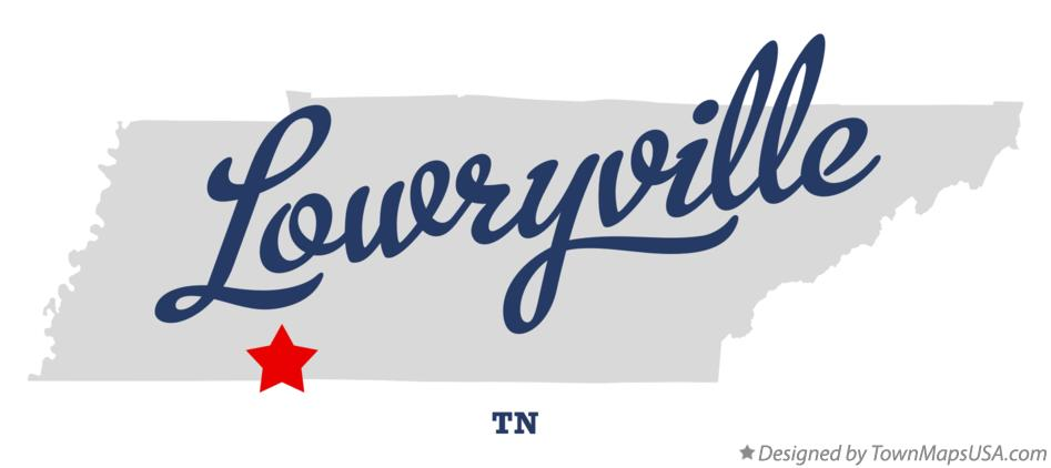 Map of Lowryville Tennessee TN