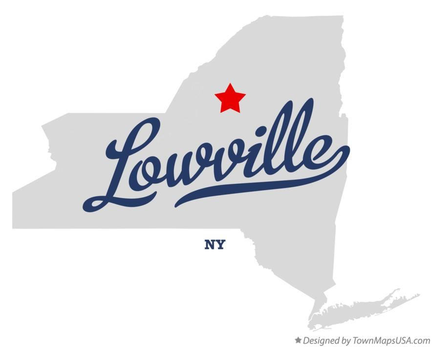 Map of Lowville New York NY